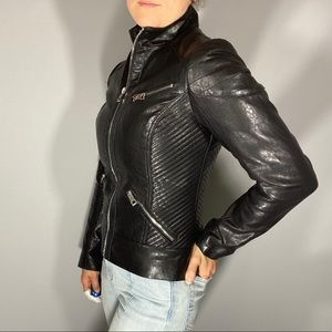 Guess faux leather jacket - EUC